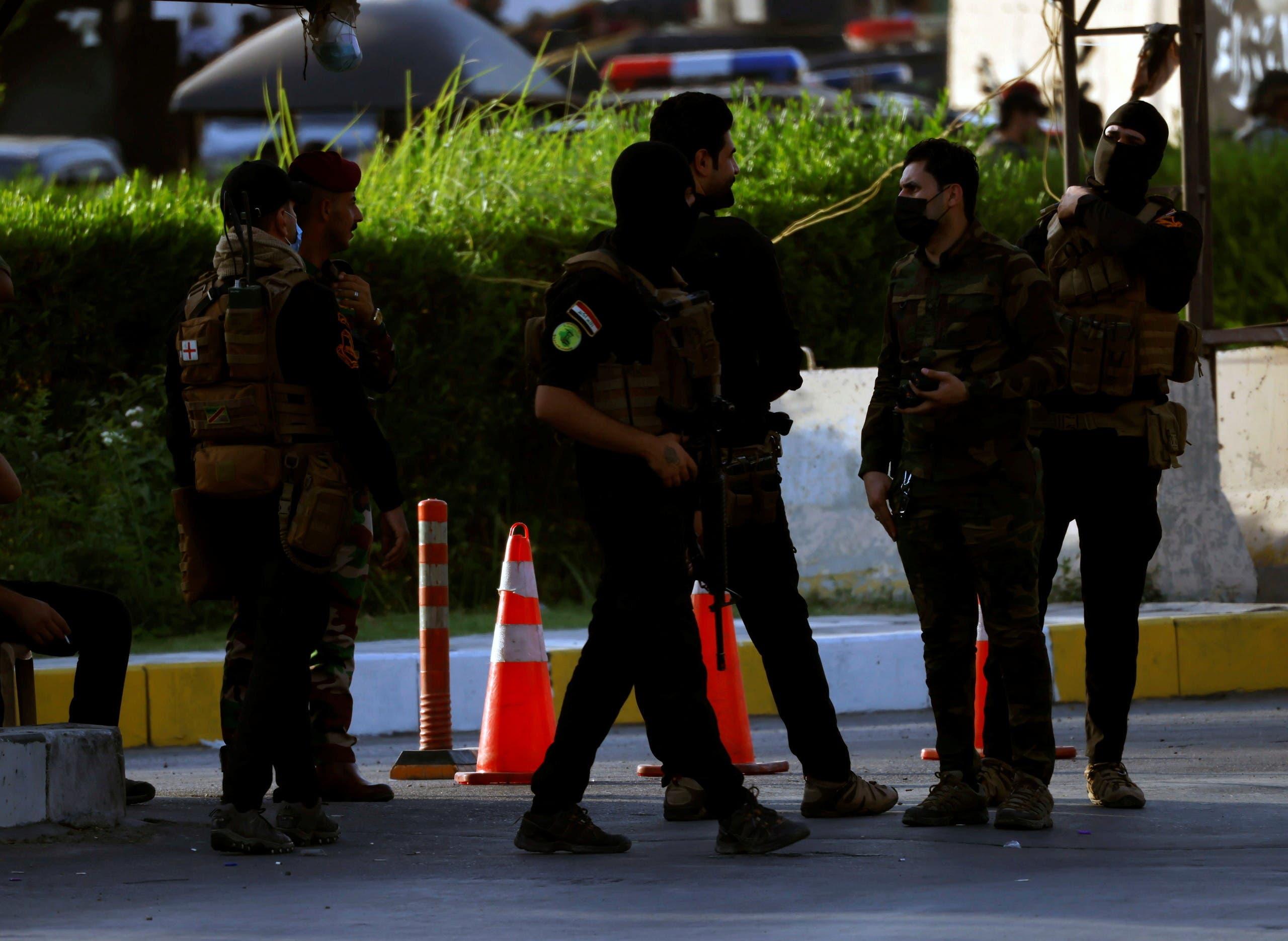 عناصر من الحشد انتشرت في محيط المنطقة الخضراء ببغداد في مايو الماضي
