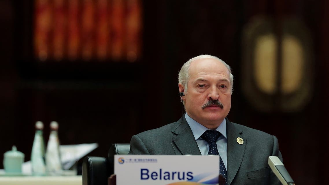 Belarus President Alexander Lukashenko attends the Roundtable Summit Phase One Sessions of Belt and Road Forum at the International Conference Center in Yanqi Lake on May 15, 2017 in Beijing, China. (File Photo: Reuters)