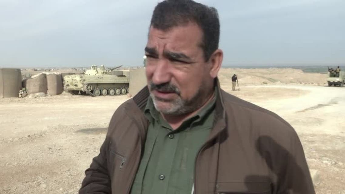 A photo of Qasim Muslih, a commander in the Iranian-backed Popular Mobilization Units (PMU) militias. (Reuters)