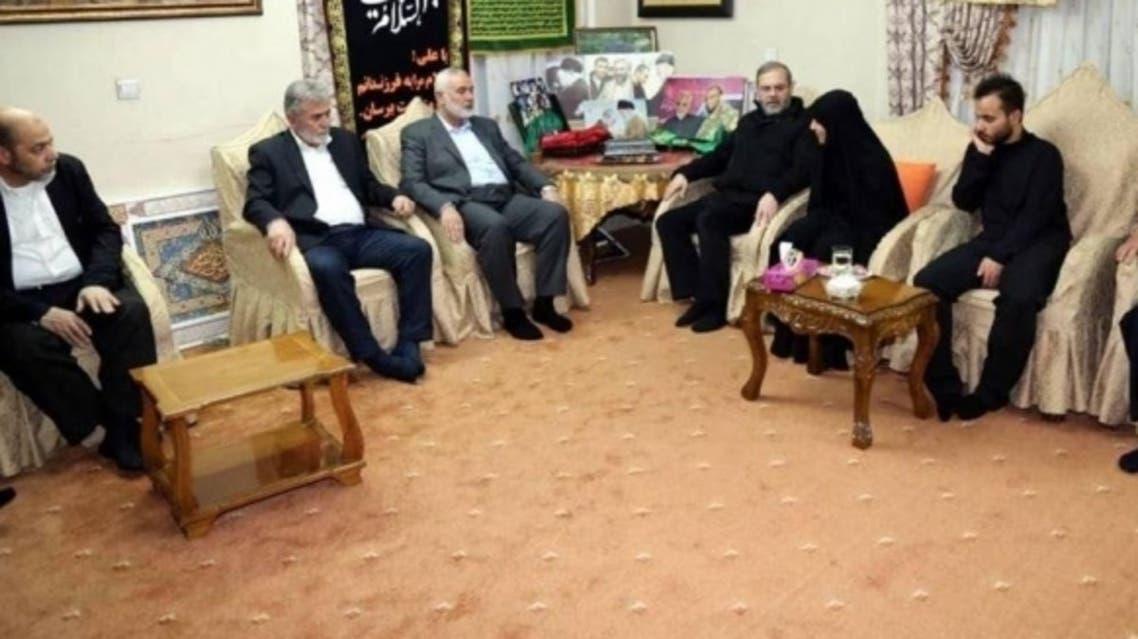 هنية يترأس وفد حماس في جنازة سليماني