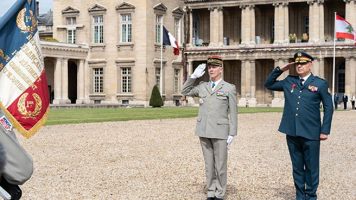 Lebanese Army Commander Gen. Joseph Aoun in France at the invitation of the Chief of the Defense Staff, General Francois LECOINTRE. (Lebanese Army/HO)