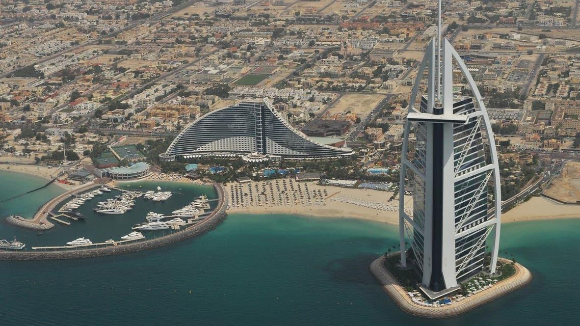 An aerial view of Dubai's Burj al Arab. (Unsplash, Roman Logov)