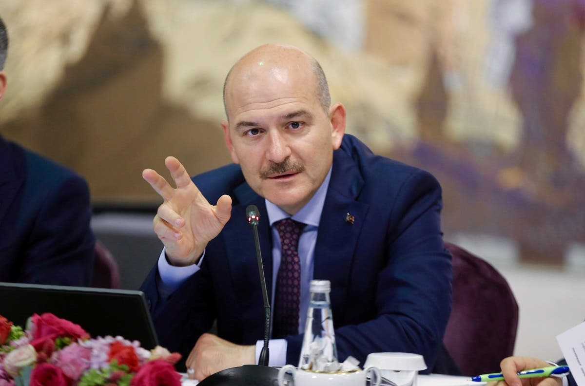 Turkish Interior Minister Suleyman Soylu speaks during a news conference in Istanbul, Turkey, August 21, 2019. (Ahmet Bolat/Pool via Reuters)