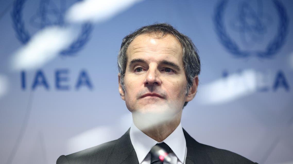 International Atomic Energy Agency (IAEA) Director General Rafael Grossi looks on as he addresses the media at the IAEA headquarters, amid the coronavirus disease (COVID-19) pandemic, in Vienna, Austria May 24, 2021. (Reuters)