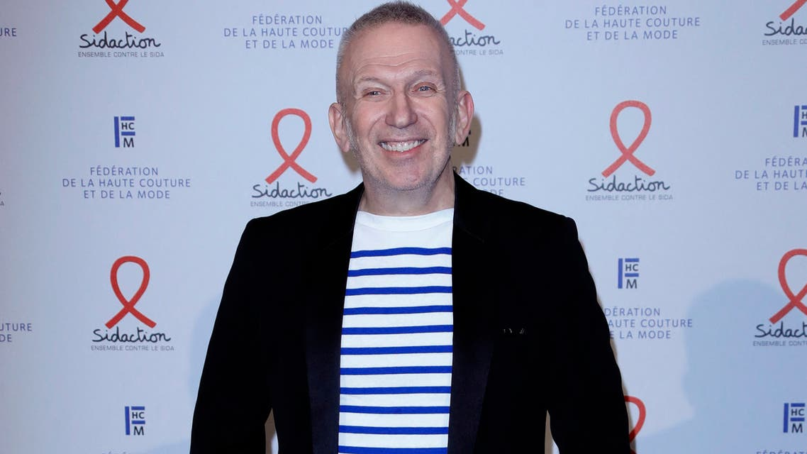 French fashion designer Jean Paul Gaultier poses during a photocall upon his arrival to the Diner de la Mode (Fashion Dinner), a fundraiser dinner in profit of the French anti-AIDS association Sidaction, at the Pavillon Cambon Capucines, in Paris, on January 23, 2020.