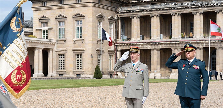 لبنانی فوج کے سربراہ فرانس میں