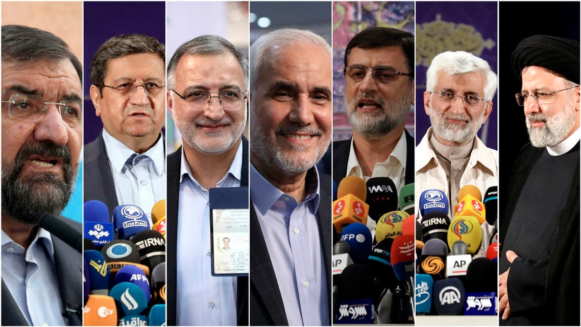المرشحون لانتخابات إيران الرئاسية (أسوشييتد برس)