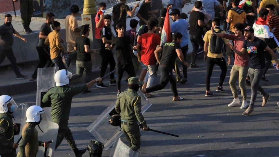 من تظاهرات بغداد الثلاثاء 25 مايو 2021 - فرانس برس