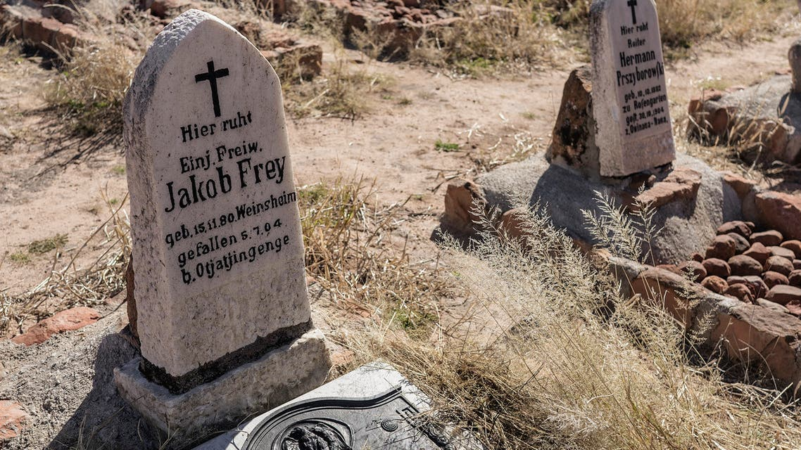 A picture taken on June 22, 2017 shows the graves of German soldiers who died in the Battle of Waterberg against the Herero forces, on the Waterberg Plateau, Namibia. (File photo: AFP)