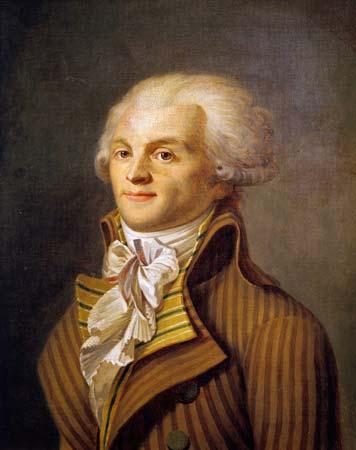 لوحة تجسد شخصية ماكسيمليان روبسبيار