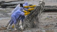 Plastics from burning container ship wash ashore Sri Lanka beach