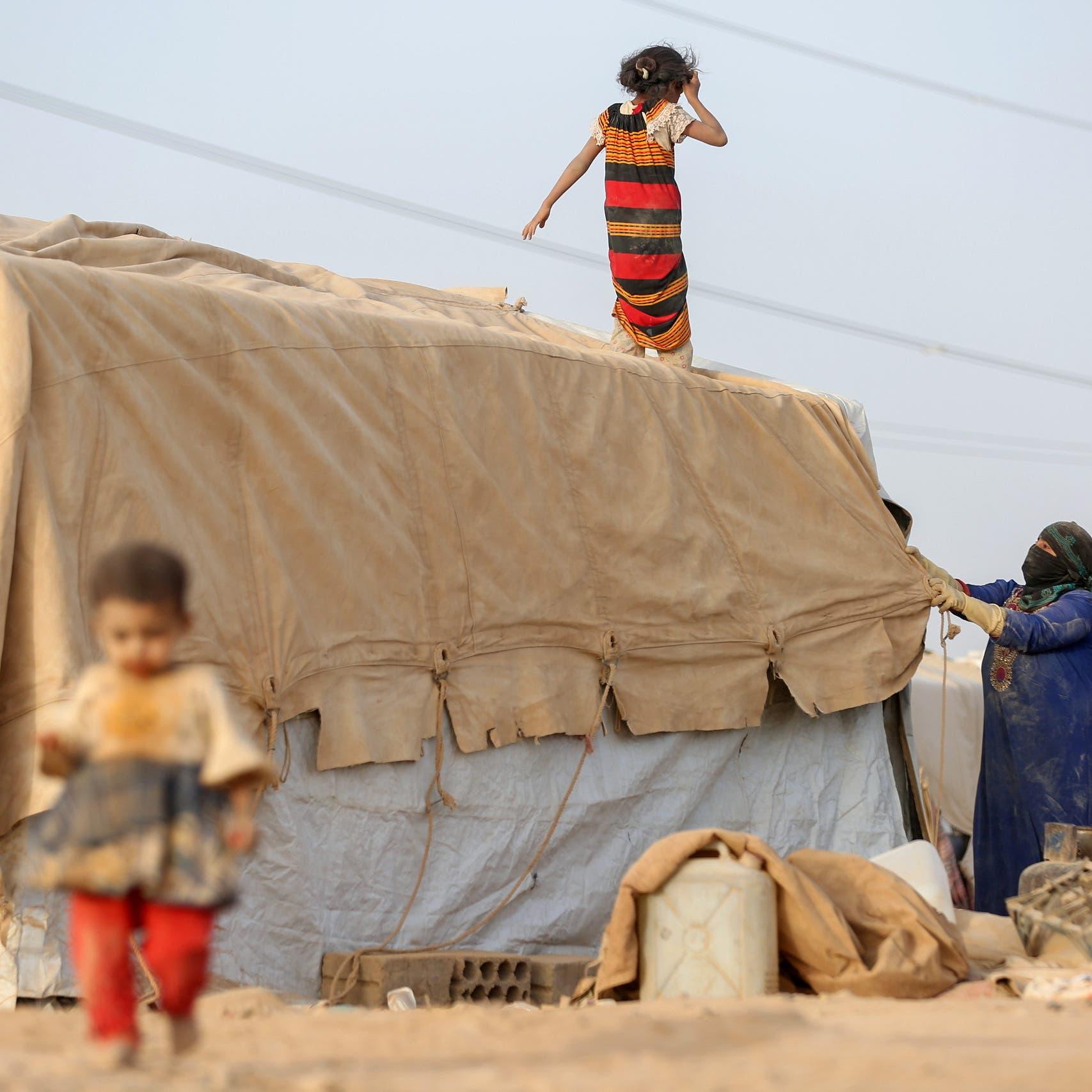 مأرب.. أكثر من 1800 أسرة نازحة لا تجد الطعام