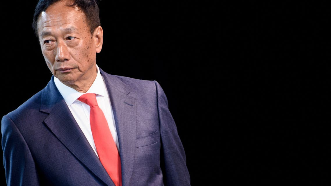 Foxconn Chairman Terry Gou at a Foxconn facility at the Wisconsin Valley Science and Technology Park June 28, 2018 in Mount Pleasant, Wisconsin. (AFP)