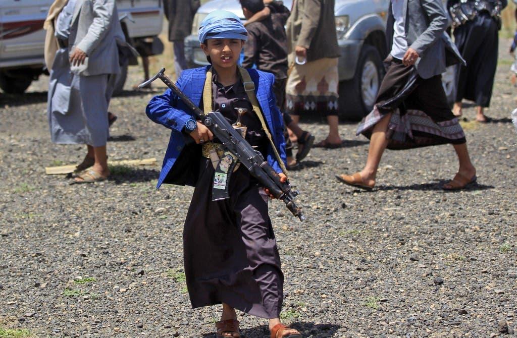 ميليشيا الحوثي تجند الأطفال ضمن صفوفها - فرانس برس