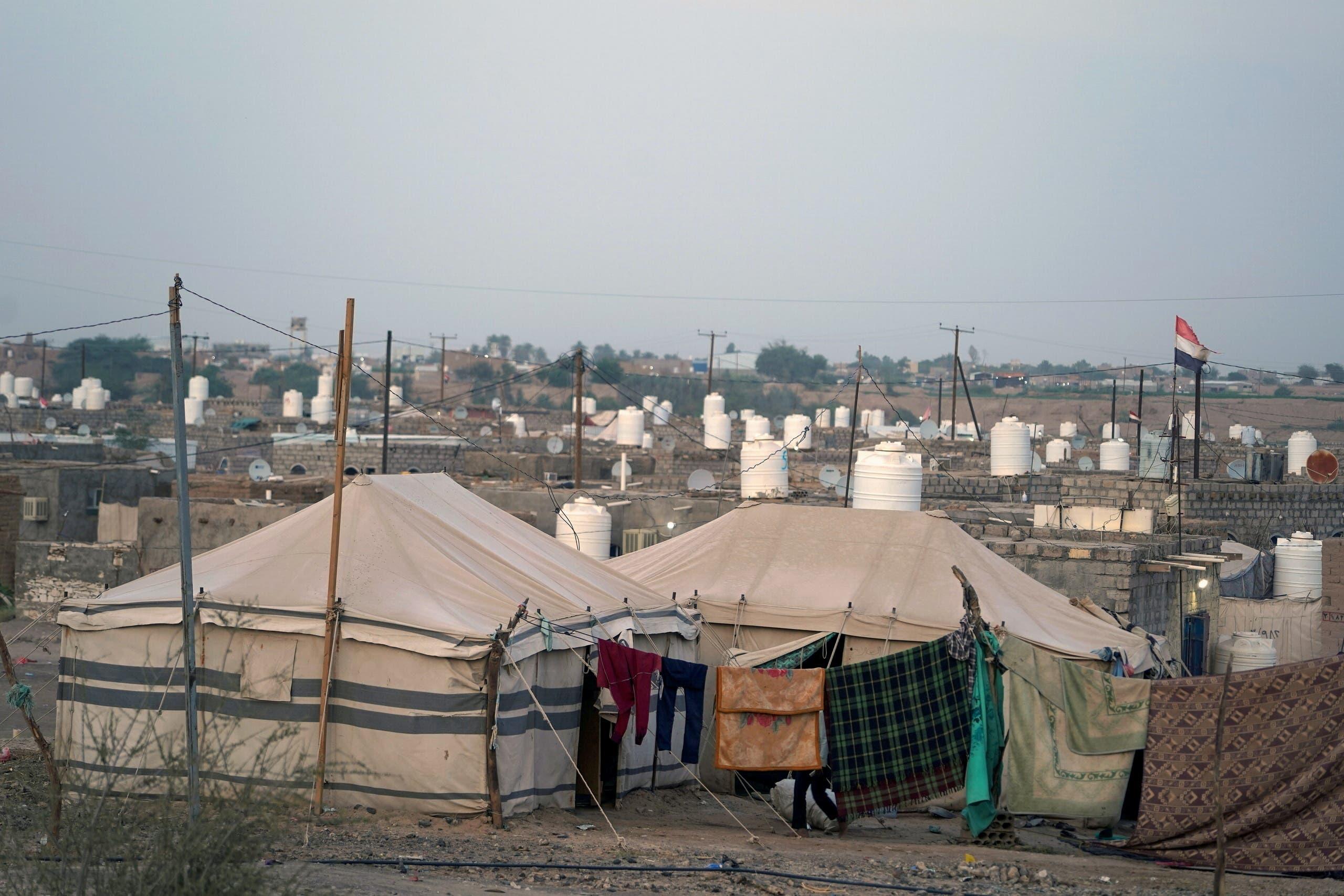 مخيم للنازحين في مأرب (أرشيفية من رويترز)