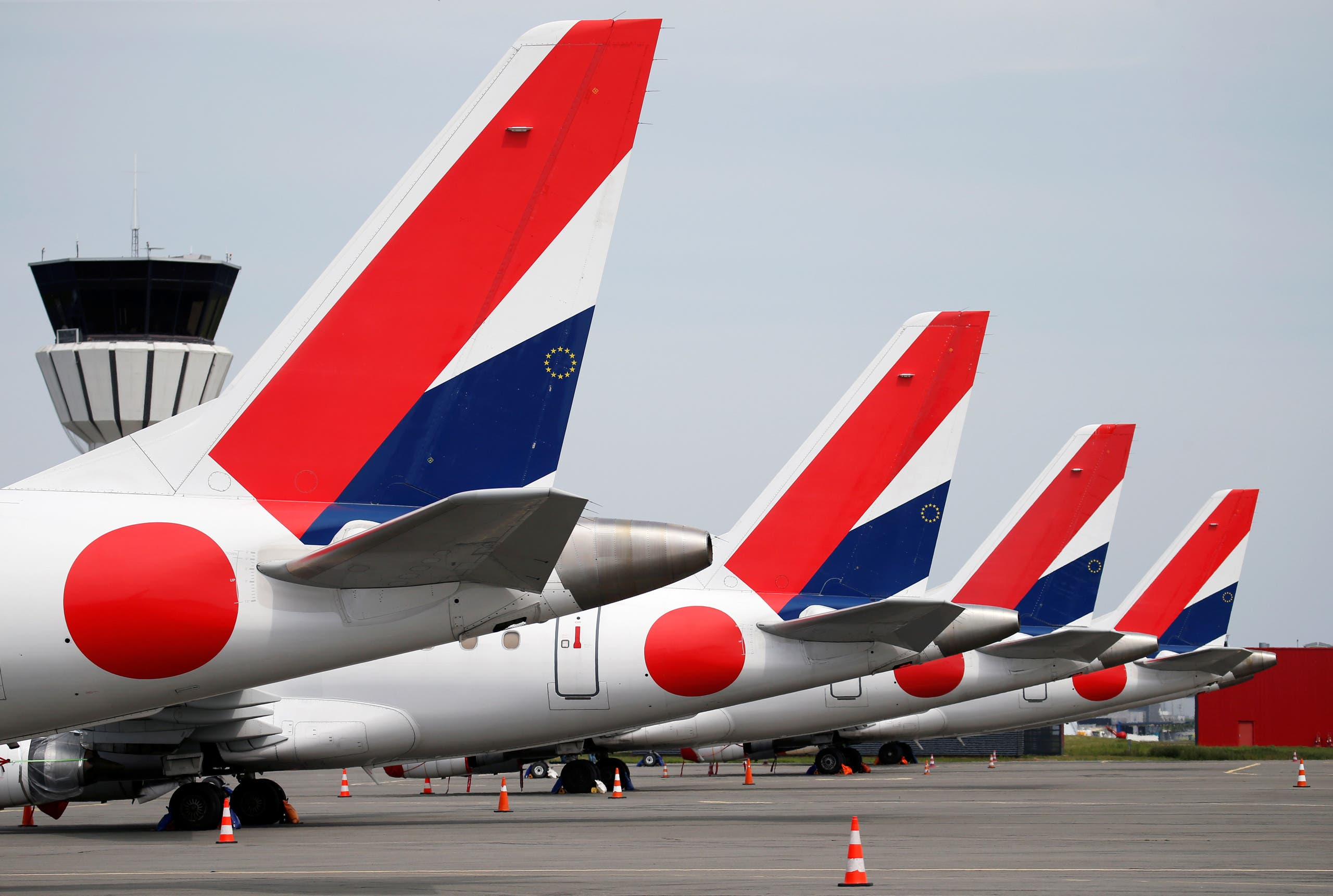 HOP! for AIRFRANCE Embraer 170 aircrafts are parked on the tarmac at Lille-Lesquin Airport following the coronavirus disease (COVID-19) outbreak, in Lesquin, France, May 7, 2020. (File photo: Reuters)