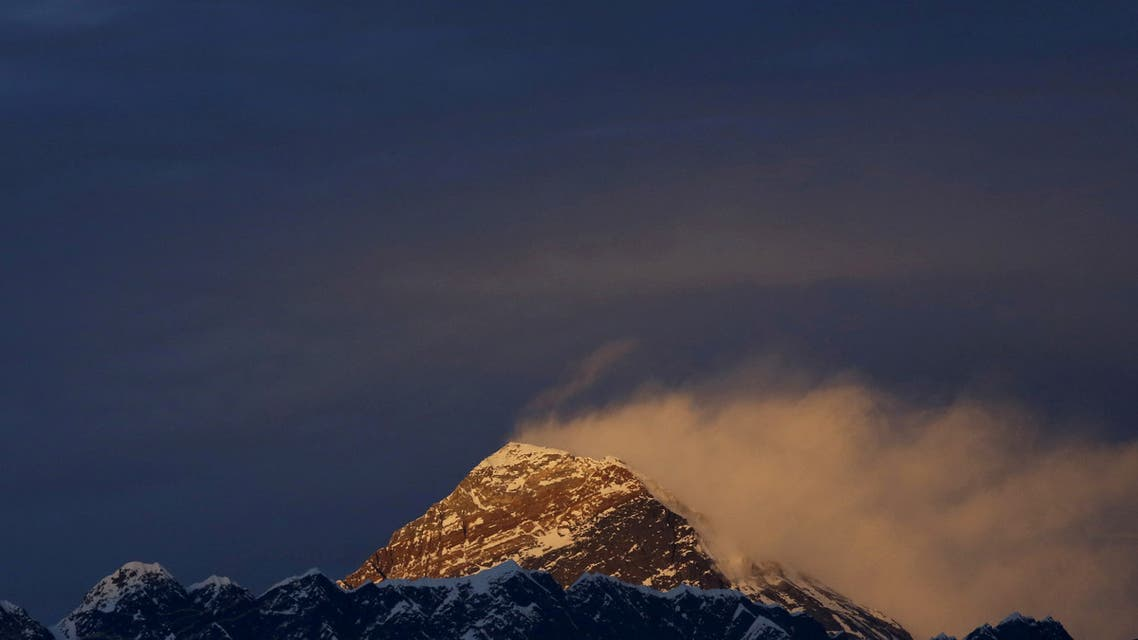 Light illuminates Mount Everest, during sunset in Solukhumbu District also known as the Everest region, November 30, 2015. (File Photo: Reuters)