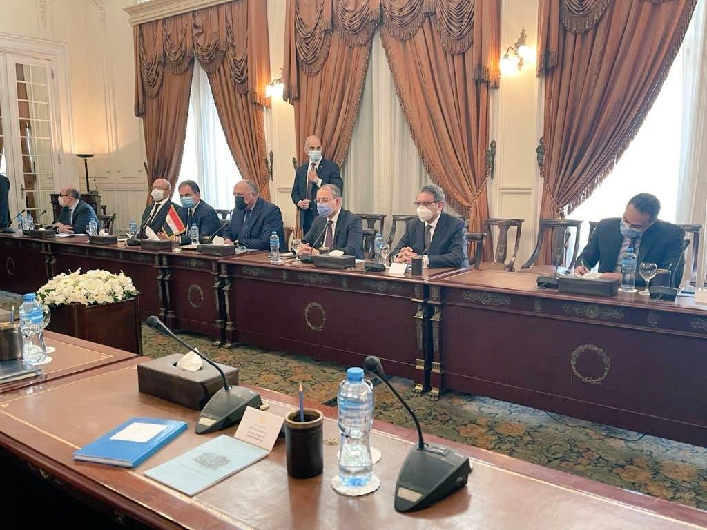 من اجتماعات الوفدين المصري والإسرائيلي