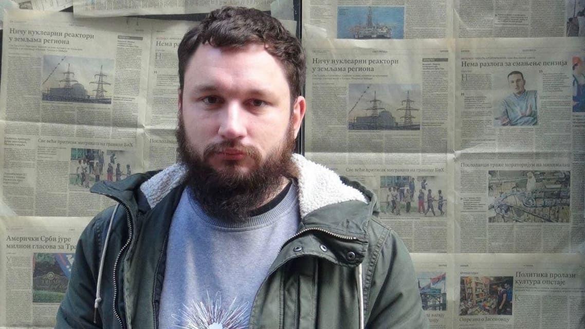 News website editor Aliaksei Shota was detained Sunday on suspicion of extremism. (Facebook)