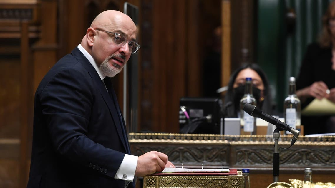 British Vaccine Deployment Minister Nadhim Zahawi speaks at the House of Commons in London, Britain February 4, 2021. (Reuters)