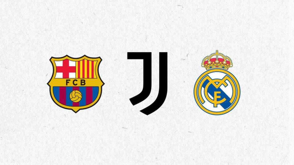 ريال مدريد برشلونة يوفنتوس