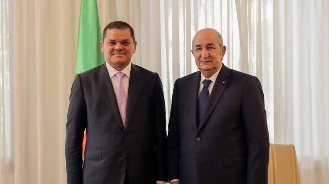 رئيس الحكومة الليبية عبد الحميد دبيبة من رئيس الجزائر عبد المجيد تبون