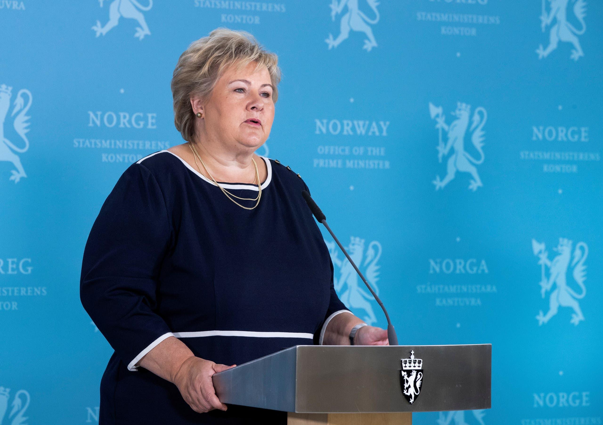 رئيسة وزراء النروج ايرنا سولبرغ (أرشيفية)