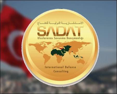 The logo of the Turkish company SADAT