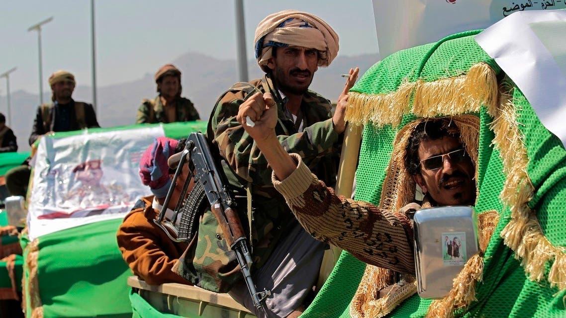"""عناصر تابعة لميليشيا الحوثي """"أرشيفية"""""""