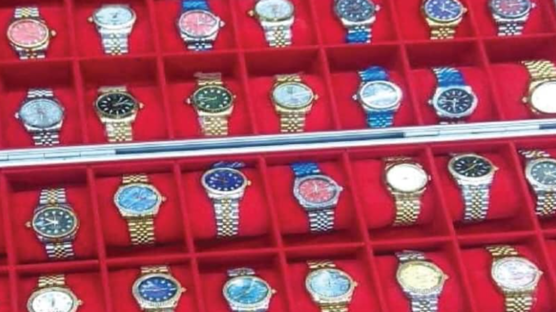 Counterfeit items seized by Ajman Police in the United Arab Emirates. (Ajman Police)