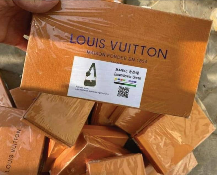 Fake Louis Vuitton items seized by Ajman Police in the United Arab Emirates. (Ajman Police)