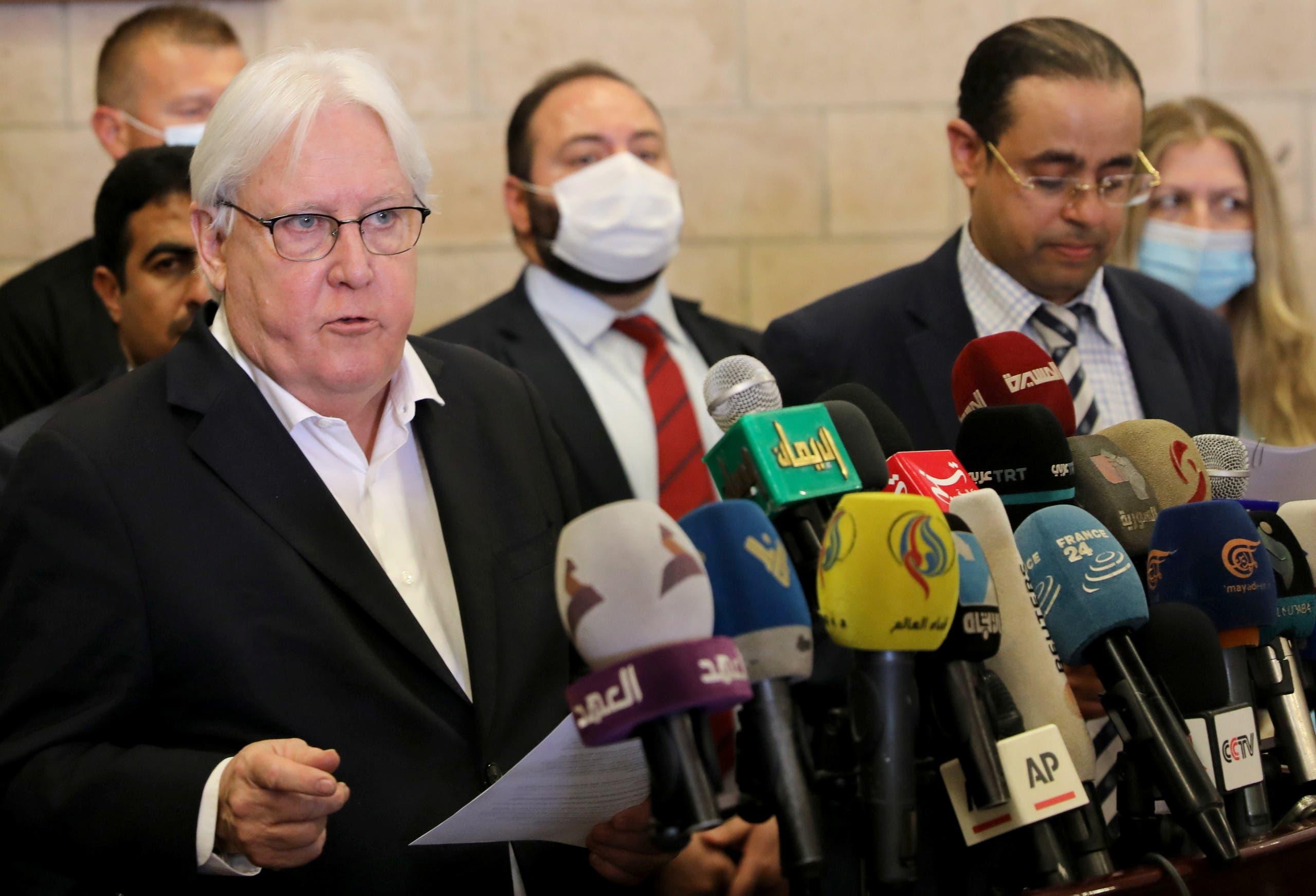 غريفيس من صنعاء في 31 مايو (رويترز)
