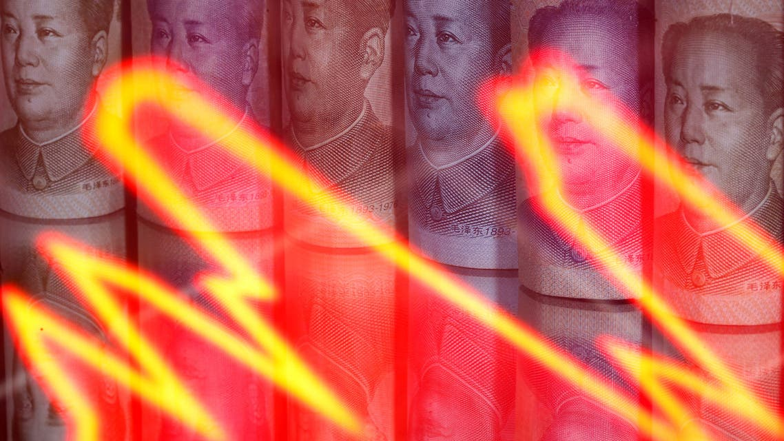 Chinese Yuan banknotes are seen behind illuminated stock graph in this illustration taken February 10, 2020. (File Photo: Reuters)