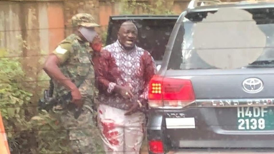 Gunmen sprayed bullets at a car carrying a Ugandan government minister Katumba Wamala in an attempted assassination. (Twitter)