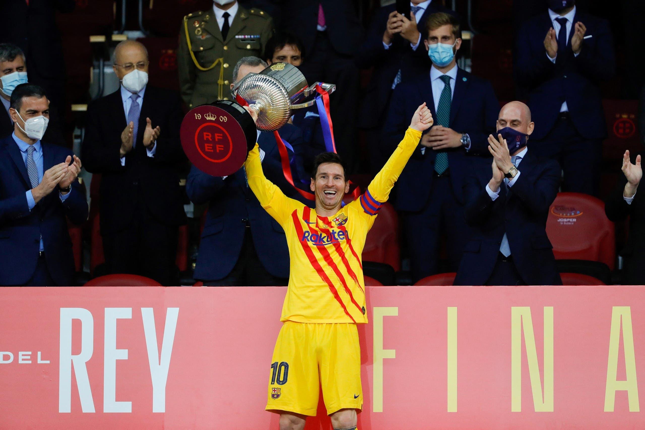 آخر بطولة حققها ميسي مع برشلونة