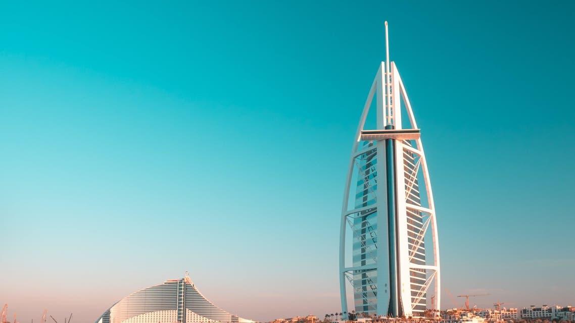 A general view of Dubai's Burj Al Arab in the United Arab Emirates. (Unsplash, Sascha Bosshard)