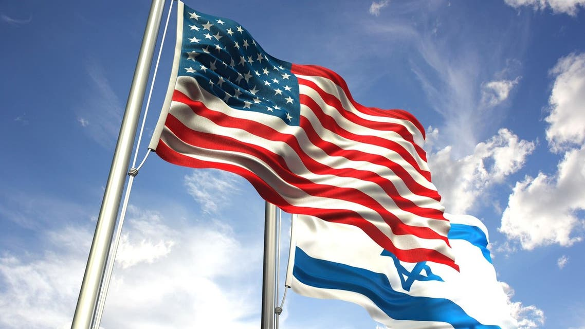 Israel and america's flag
