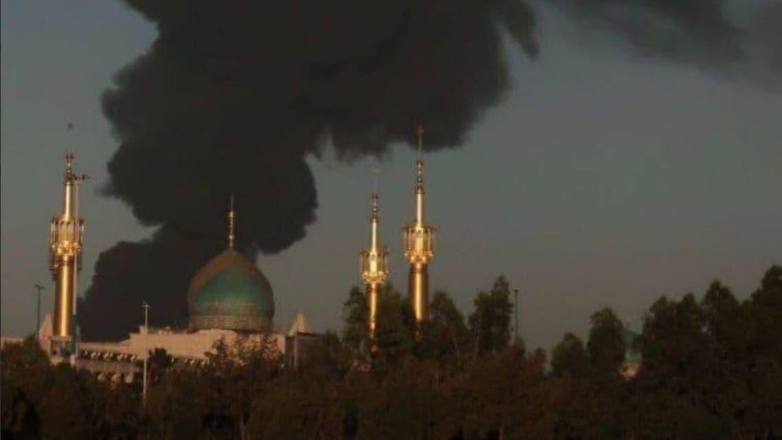 حريق طهران