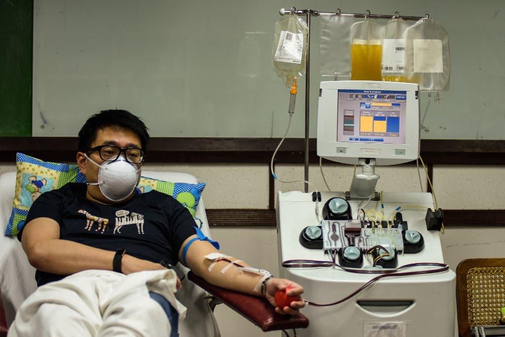 مريض بكوفيد 19 في مستشفى بمانيلا