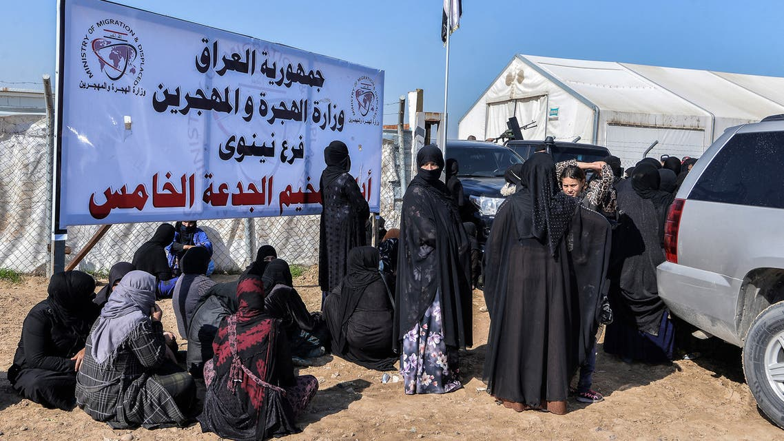 مخيم الجدعة في محافظة نينوى (فرانس برس)
