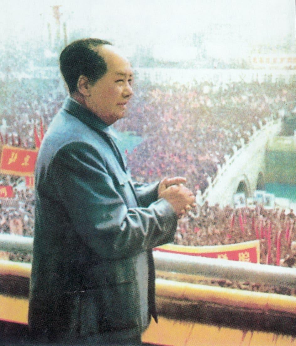 صورة دعائية للقائد الصيني ماو تسي تونغ