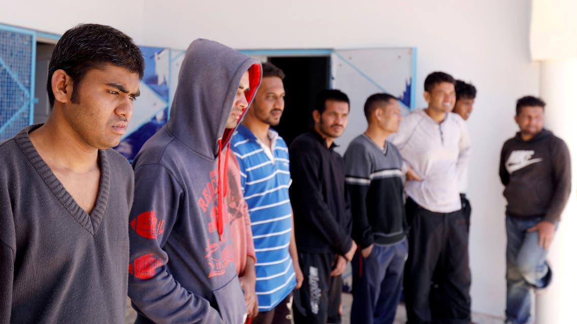 مهاجرون في مراكز إيواء بتونس