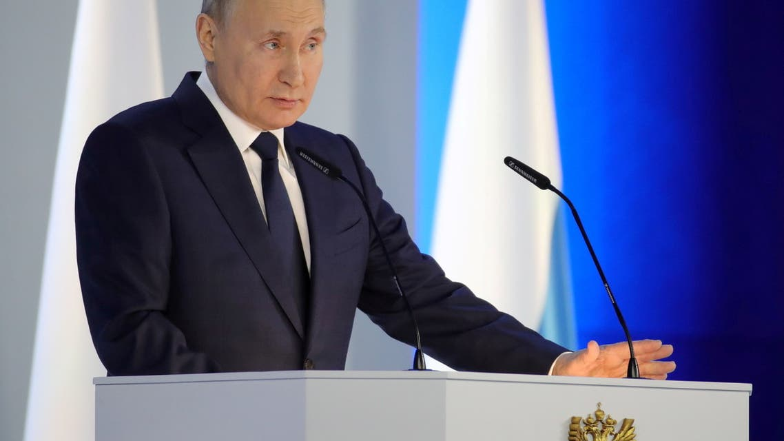 Russian President Vladimir Putin delivers his annual address to the Federal Assembly in Moscow, Russia April 21, 2021. (File Photo: Reuters)