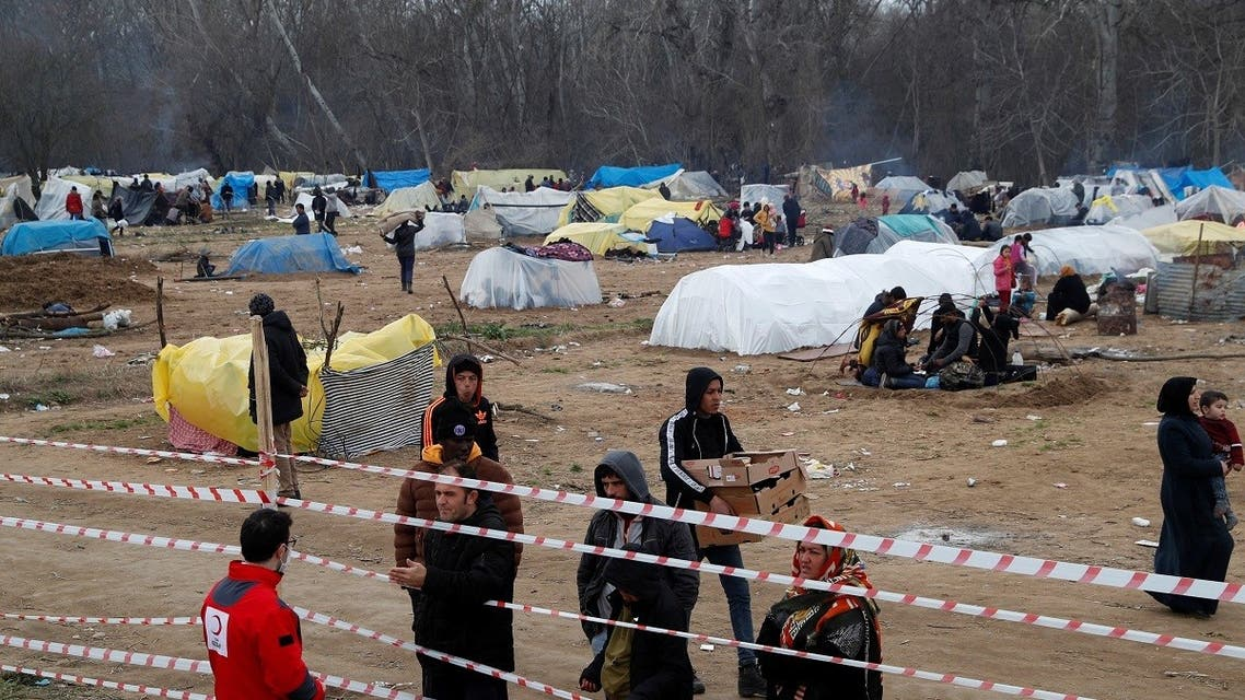 Makeshift shelters of migrants are pictured at Turkey's Pazarkule border crossing with Greece's Kastanies, near Edirne in Turkey. (File Photo: Reuters)