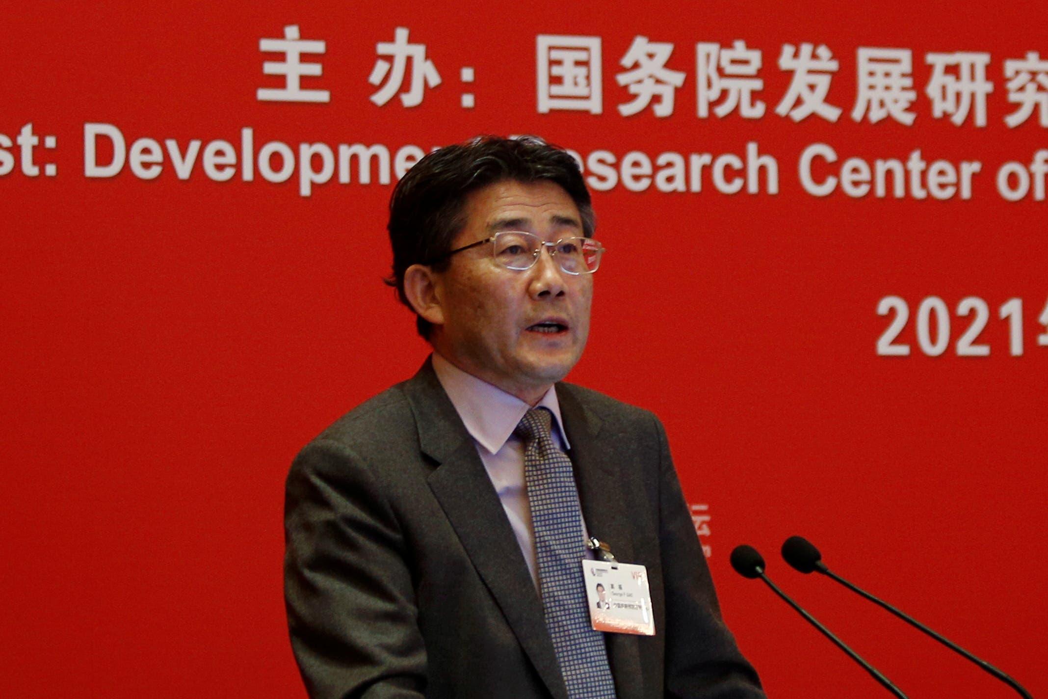 جورج جاو، مدير المركز الصيني للسيطرة على الأمراض والوقاية منها (رويترز)