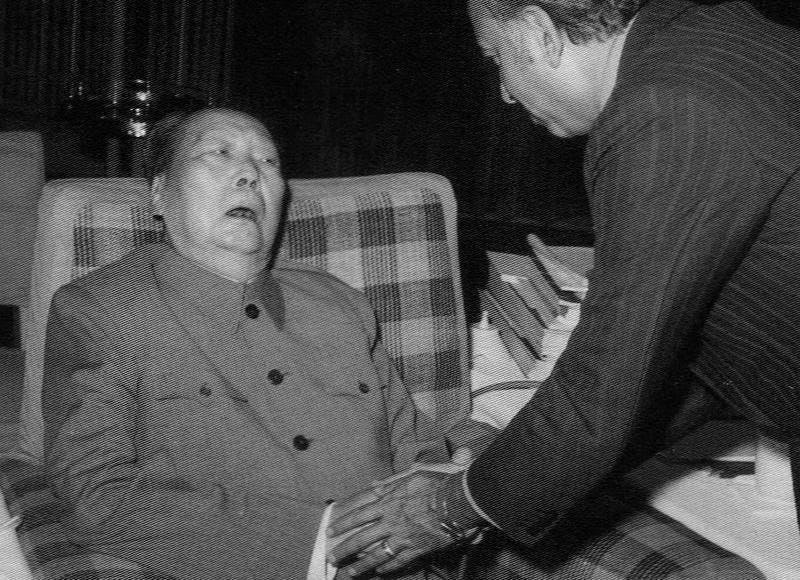 صورة للزعيم الصيني ماو تسي تونغ أواخر حياته