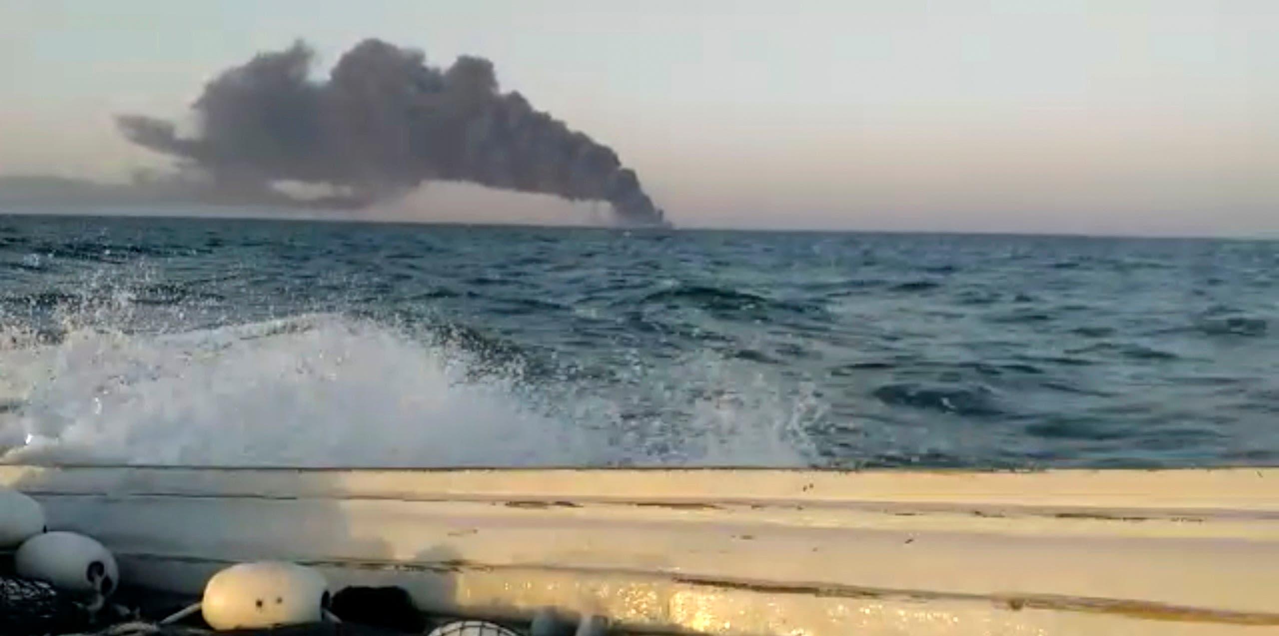 حادث على سفينة عسكرية إيرانية في خليج عمان في يونيو الماضي