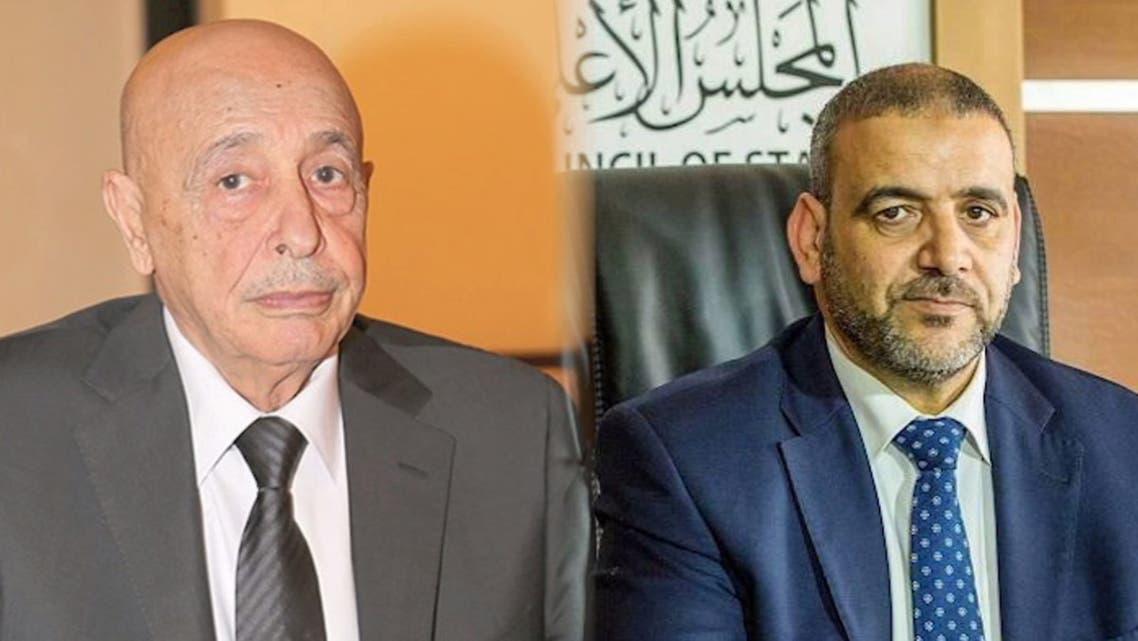خالد المشري و عقيلة صالح