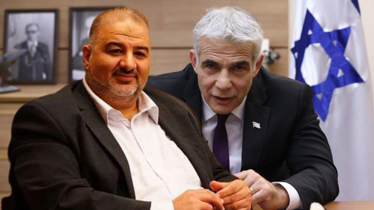 منصور عباس و يائير لاپید
