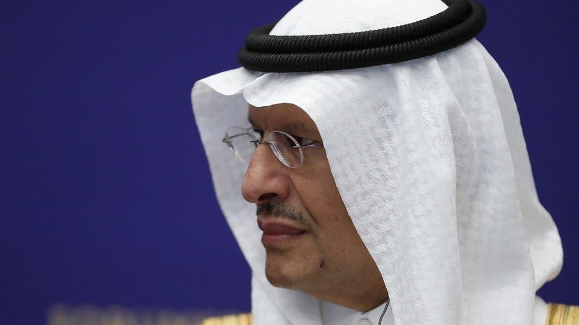 Saudi Energy Minister, Prince Abdulaziz bin Salman al-Saud, attends a session of the St. Petersburg International Economic Forum (SPIEF) in Saint Petersburg, Russia, June 3, 2021. (Reuters)